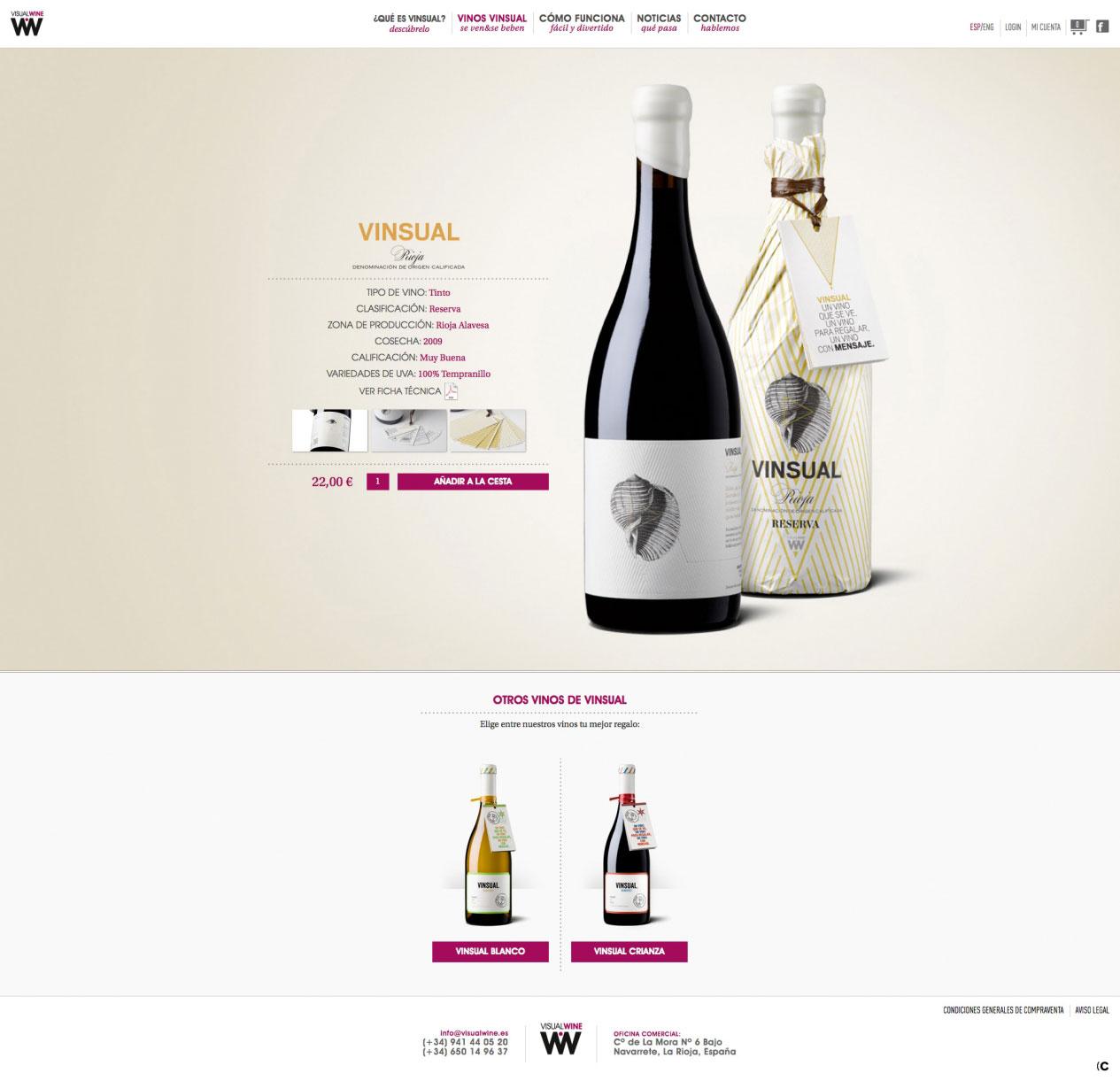 diseño atractivo de botella de vino en valladolid